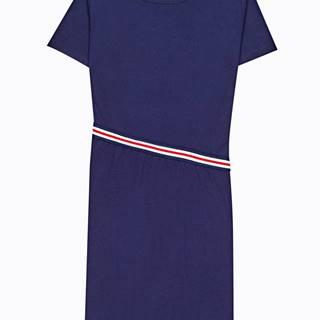 Tričkové šaty s prúžkom