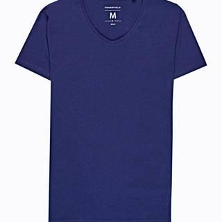 Základé tričko slim fit s véčkovým výstrihom