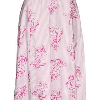 Plátená sukňa s potlačou