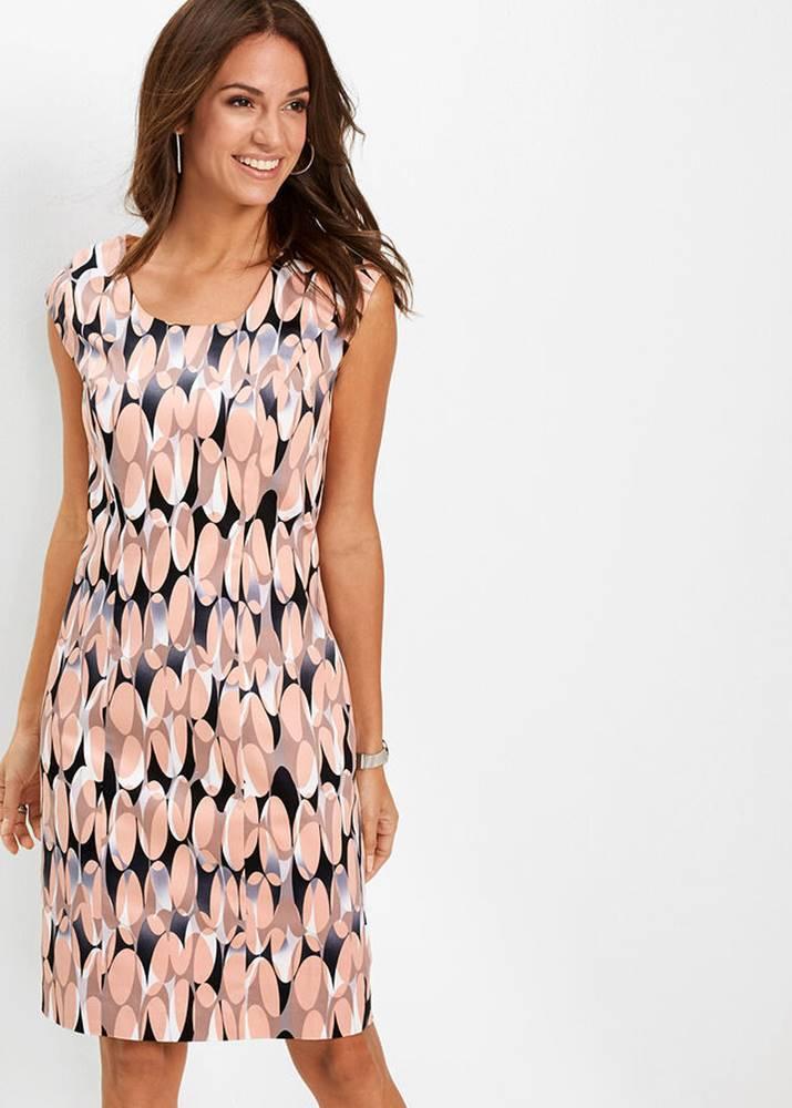 Púzdrové šaty s potlačou