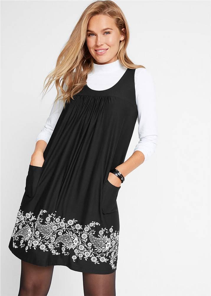 Strečové šaty s potlačou