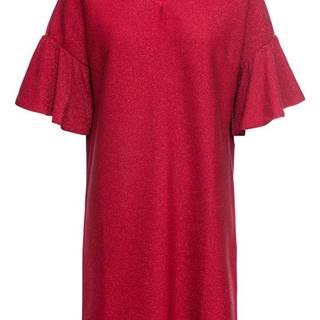 Džersejové šaty s leskom