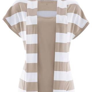 Tričko v dvojitom vzhľade