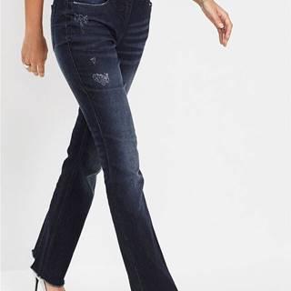 Strečové džínsy s ozdobným prešívaním