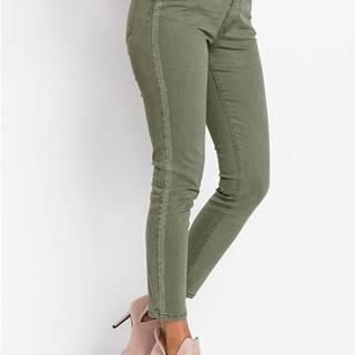 Skinny džínsy s nitmi