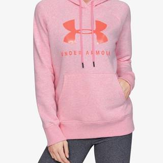 Mikina Under Armour Rival Fleece Sportstyle Graphic Hoodie Růžová