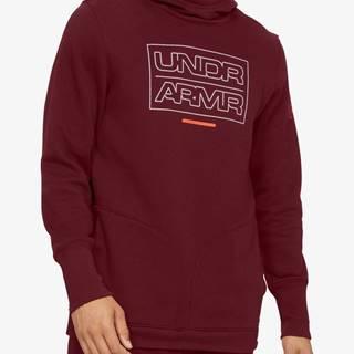 Mikina Under Armour Baseline Fleece Po Hood Červená