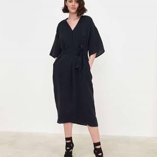 Dámske šaty kaftan strihu  čierna