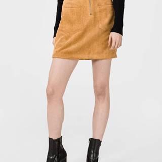 Cordatine Sukně Vero Moda Žltá
