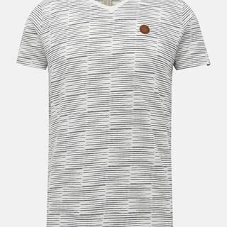 Biele pánske vzorované tričko Alife and Kickin Tim