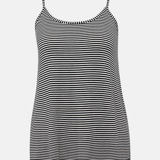 Bielo-čierne dámske pruhované basic tielko ZOOT Baseline Cameron