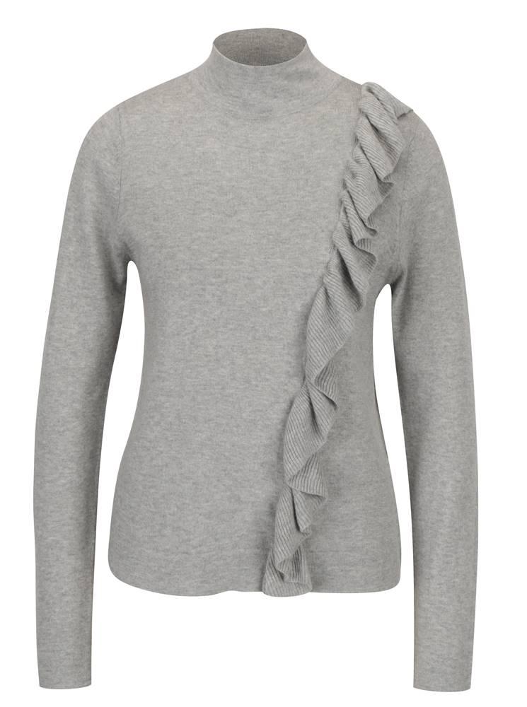 Sivé melírované tričko s vo...