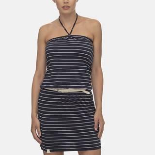 Tmavomodré pruhované šaty Ragwear Chicka