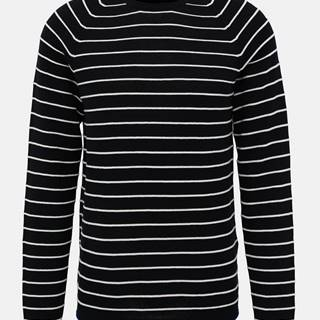 Tmavomodrý pruhovaný basic sveter Selected Homme Troy