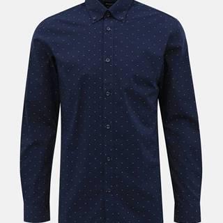 Tmavomodrá vzorovaná regular fit košeľa Selected Homme Regrex