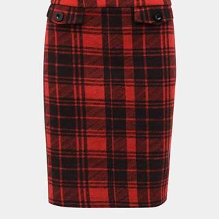 Červená kockovaná sukňa M&Co