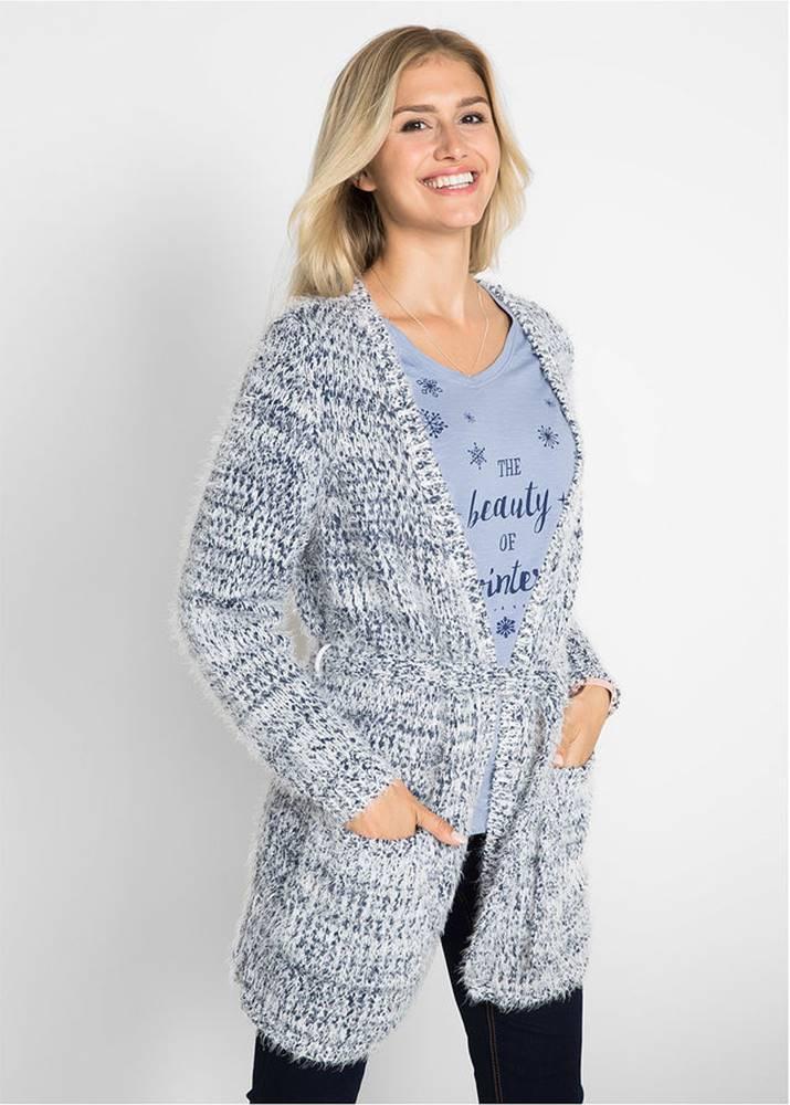 Pletený sveter s opaskom