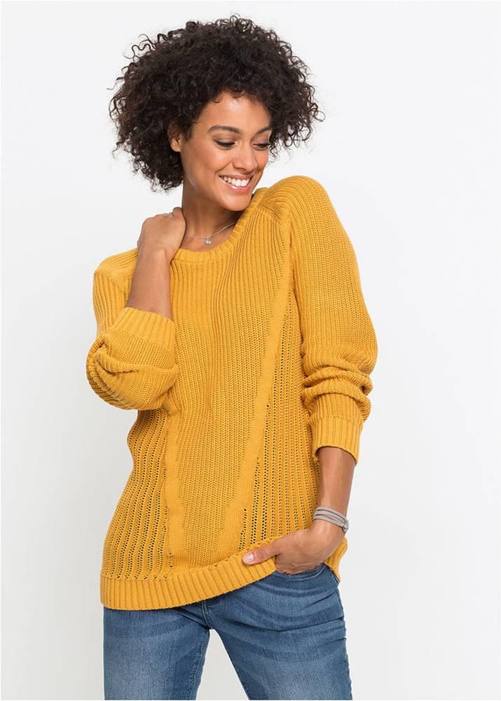 Bavlnený pulóver, dlhý rukáv