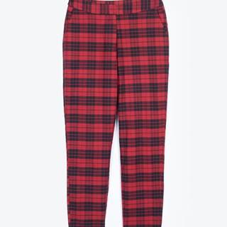 Kárované nohavice rovného strihu