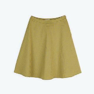 Áčková kockovaná sukňa