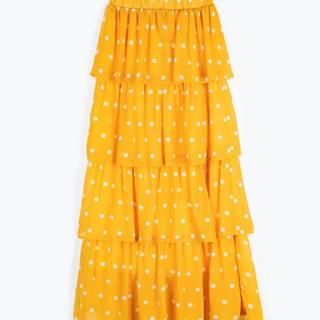 Bodkovaná dlhá sukňa