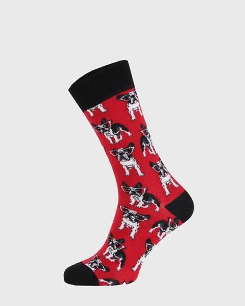 Červené ponožky Bulldog