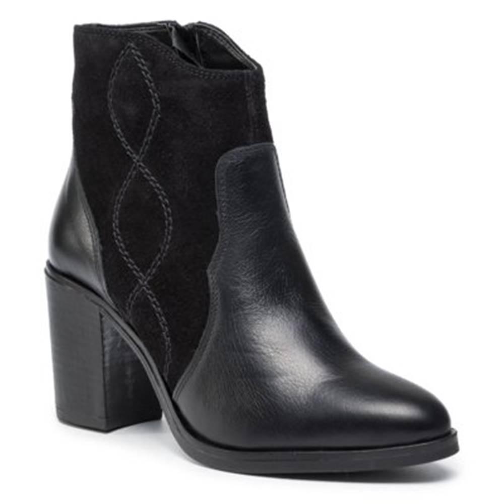 Členkové topánky Lasocki N024 koža(useň) zamšová,koža(useň) lícová