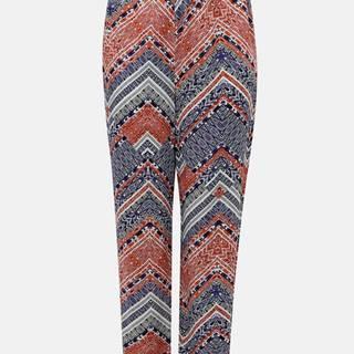 Modro-ružové vzorované nohavice ONLY CARMAKOMA African