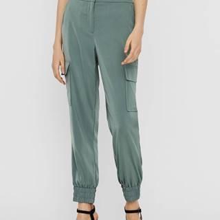 Zelené nohavice VERO MODA Paula
