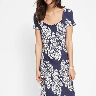 Úpletové šaty, polovičný rukáv