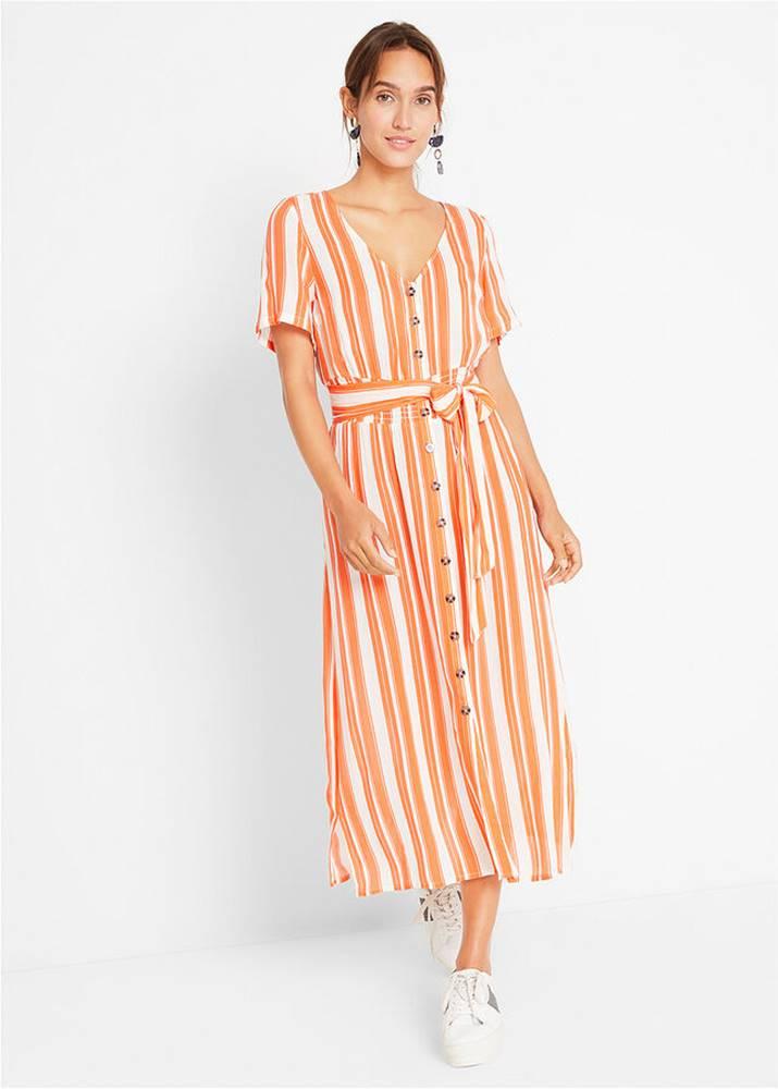 Midi šaty s gombičkovou légou