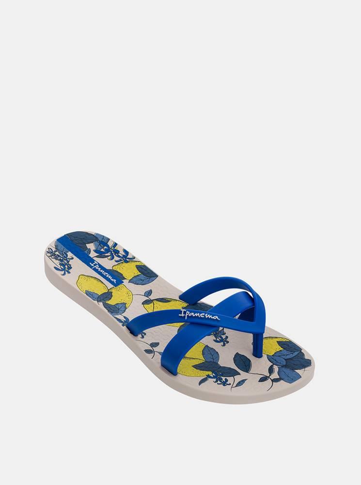 Žlto-modré dámske vzorované žabky Ipanema