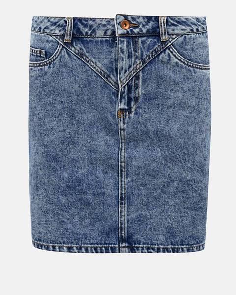 Modrá rifľová sukňa ONLY Cora