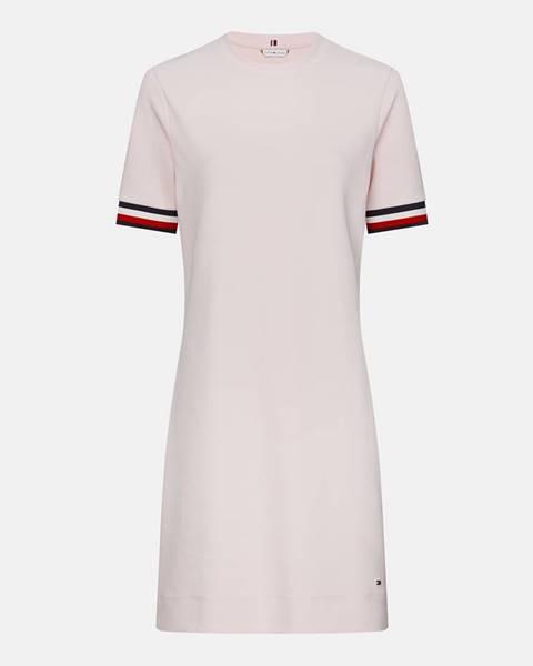 Svetloružové šaty Tommy Hilfiger