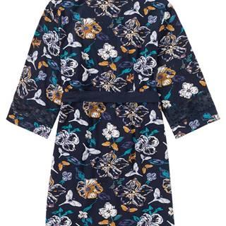 Kimonový župan z úpletového materiálu