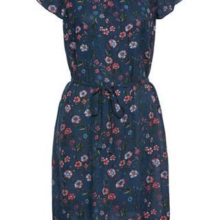 Krčené šaty Carmen s kvetovanou potlačou