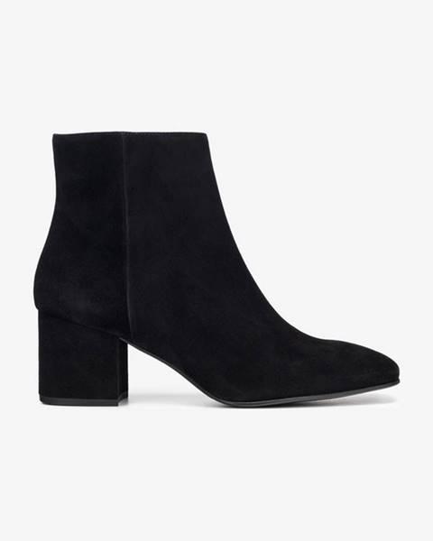 Členková obuv Čierna
