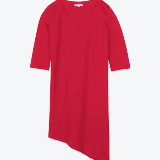 Dlhé tričko s asymetrickým spodným lemom