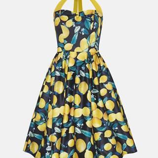 Žlto-modré vzorované šaty Dolly & Dotty