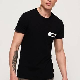 Čierne pánske tričko Superdry