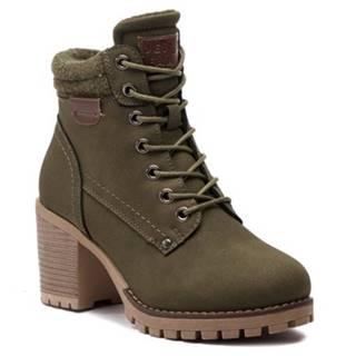 Šnurovacia obuv Jenny Fairy WS2676-01 filc,koža ekologická