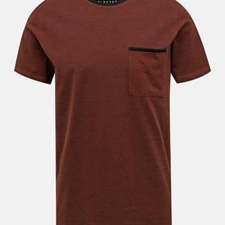 Hnedé tričko Selected Homme New Poe