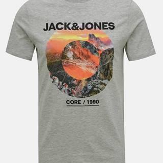 Šedé tričko Jack & Jones Barista